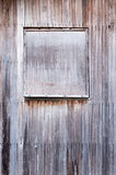 Closed Wooden Window Stock Photography
