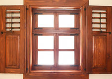 Closed wooden window Royalty Free Stock Images