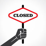 Closed word banner Royalty Free Stock Photography