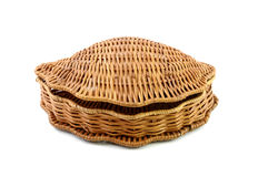 Closed woven basket Royalty Free Stock Photos