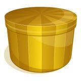 Closed yellow box Royalty Free Stock Photo