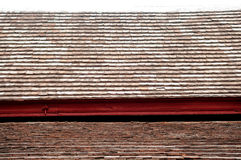 Closedup Old ceramic roof in temple Royalty Free Stock Photography