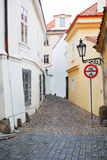 Closely street of Prague, Czech Republic. Royalty Free Stock Photo