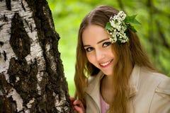 closen blommar flickahår henne upp barn Royaltyfri Fotografi