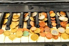 closen keys upp pianot Royaltyfri Foto
