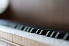 closen keys upp pianot nära frontal sikt Arkivbilder