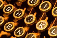 closen keys upp skrivmaskinen Royaltyfri Fotografi