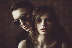 Closeness av två personer fotografering för bildbyråer