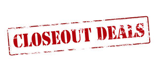 Closeout deals Royalty Free Stock Image