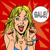 Closeout girl discount sale Stock Photo