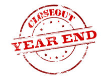 Closeout year end. Rubber stamp with text closeout year end inside, vector illustration Royalty Free Illustration