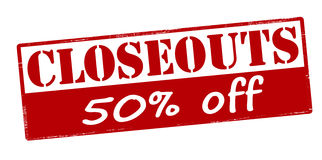 Closeouts fifty percent off Royalty Free Stock Images