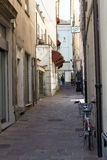 Closer away between old houses #4. Salsomaggiore Italy Royalty Free Stock Photos