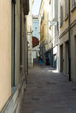 Closer away between old houses. Salsomaggiore Italy Royalty Free Stock Photos
