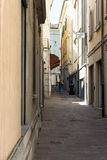 Closer away between old houses #2. Salsomaggiore Italy Royalty Free Stock Images