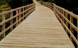 Closer. Boardwalk near Jobos Beach, Isabela, PR royalty free stock photo