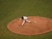 Closer Brian Wilson finishes throw Stock Photography