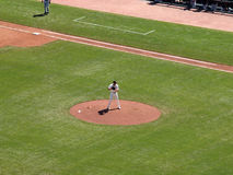 Closer Brian Wilson Prepares to throw a pitch. San Francisco Giants vs. Pirates: Giants Closer Brian Wilson Prepares to throw a pitch in the top of the ninth for stock photography
