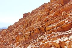 A closer look at colorful cliffs. A closer look at colorul cliffs in the Negev desert, near Eilat, Israel royalty free stock image