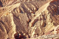 A closer look at colorful cliffs. A closer look at colorul cliffs in the Negev desert, near Eilat, Israel royalty free stock photo