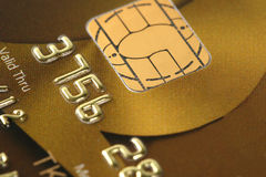 Closer look at credit. Credit card background, shallow DOF Royalty Free Stock Photos