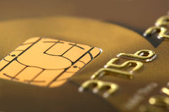 Closer look at credit 2. Credit card background, shallow DOF Royalty Free Stock Photography