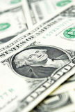 Closer look at dollars. Closer look at american dollars Royalty Free Stock Photo