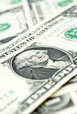 Closer look at dollars Royalty Free Stock Photo