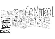 A Closer Look On The Side Effects Of Birth Control Productsword Cloud. A CLOSER LOOK ON THE SIDE EFFECTS OF BIRTH CONTROL PRODUCTS TEXT WORD CLOUD CONCEPT royalty free illustration