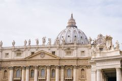 St. Peter's Basilica. A closer look at the Vatican Royalty Free Stock Images