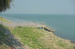 A closer look at waterfront NO.2. Looking around and you`ll get a good panorama view of Pa Sak Cholasit Dam stock images