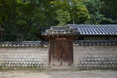 Closer to the wooden temple around Seoul Eastern Palace Changde Stock Images