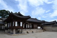 Closer to the wooden temple around Seoul Eastern Palace Changde Stock Photography