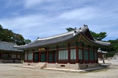 Closer to the wooden temple around Seoul Eastern Palace Changde Royalty Free Stock Photography