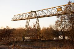 Free Closer View On A Crane At A Lost Place In Fresenburg Emsland Germany Stock Images - 143441634