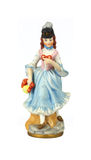 Closer View Vintage Lady Figurine Royalty Free Stock Photography