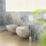 Closestool dans une salle de bains moderne Image libre de droits