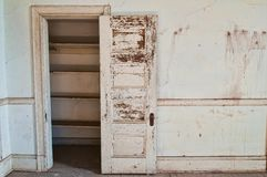 Closet. Empty closet in an old abandoned building royalty free stock photos