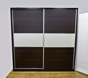 Closet. With two sliding doors, made of laminated chipboard royalty free stock photography