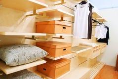 Closet. Wardrobe private room interior stock image