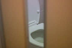 Closet. In bath room royalty free stock photo