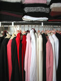 Closet with clothes stock image