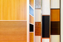 Closet door samples Stock Photo