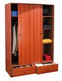 Closet. Isolated. Clothing closet, isolated over white stock image
