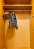 Closet leather jacket Stock Images