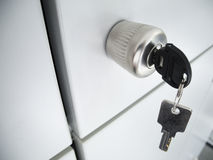 lockwith key in gray board Stock Photos