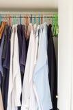 Closet of man shirts Royalty Free Stock Images