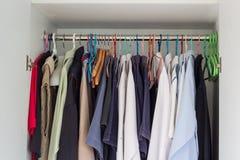 Closet of man shirts Royalty Free Stock Photography