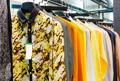 Closet shirt Royalty Free Stock Photography