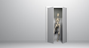 Closet skeleton. A skeleton in your closet Stock Photos
